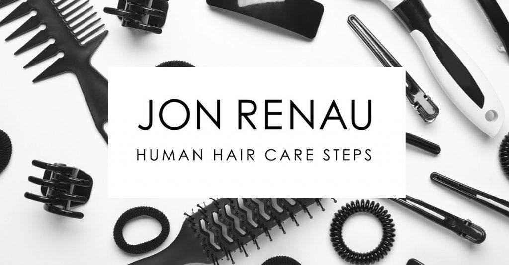 Jon Renau Human Hair Care Steps